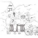 Ausmalbild: Lotte und Max beim Imker