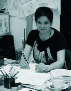 Anke Dammann ist Illustratorin des Buchs '10 kleine Gören' erschienen im WIndy Verlag.