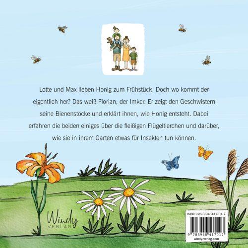 Lotte und Max besuchen die Bienen, Backcover