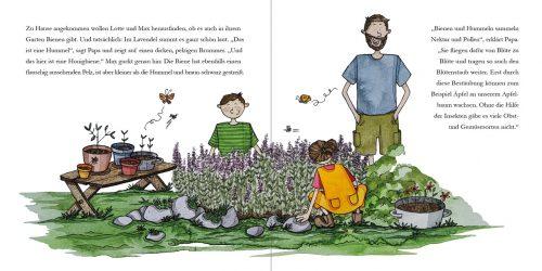 Lotte und Max besuchen die Bienen, Innenseiten