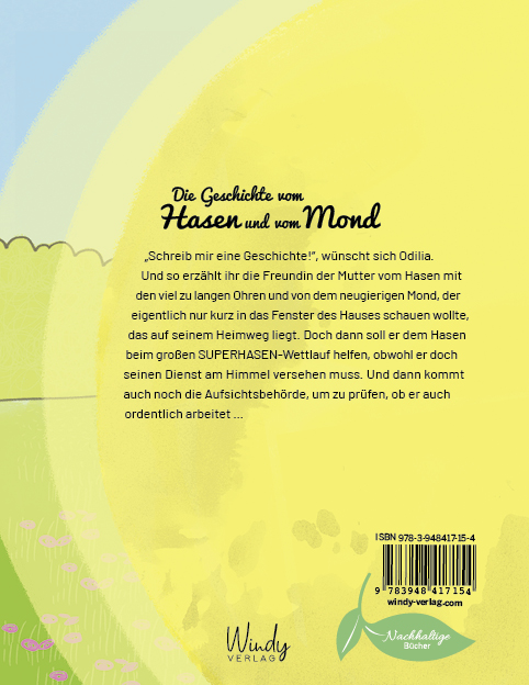Hase und Mond, Backcover