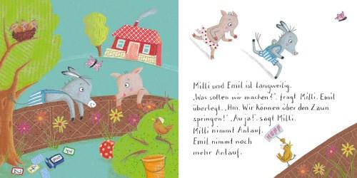 Milli & Emil ist gar nicht langweilig, Innenseiten